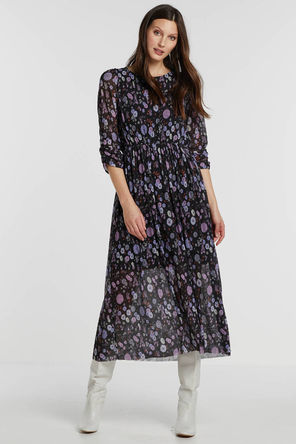 Catwalk Junkie maxi jurk met all over print zwart, Zwart