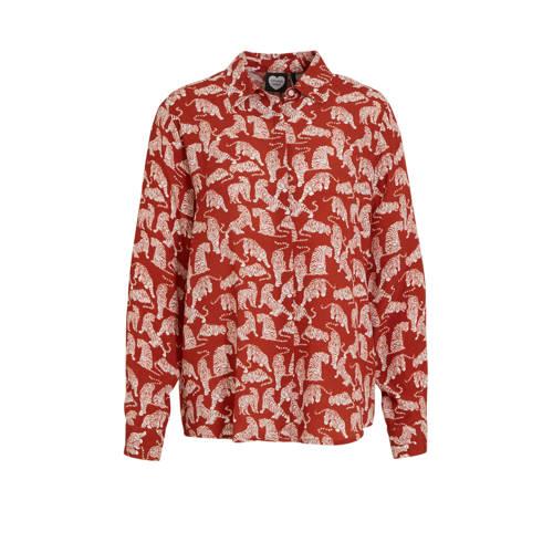 Catwalk Junkie blouse met all over print rood