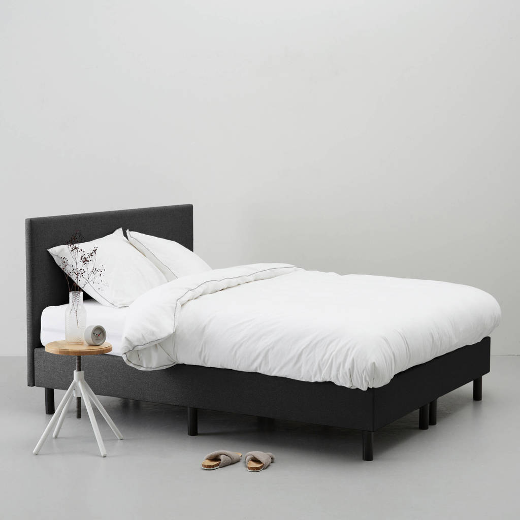 whkmp's own complete boxspring Vancouver (160x200 cm), Zwart