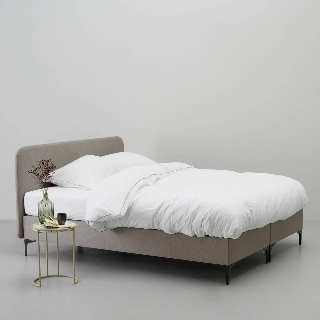 whkmp's own complete boxspring Nelson (160x210 cm), Taupe