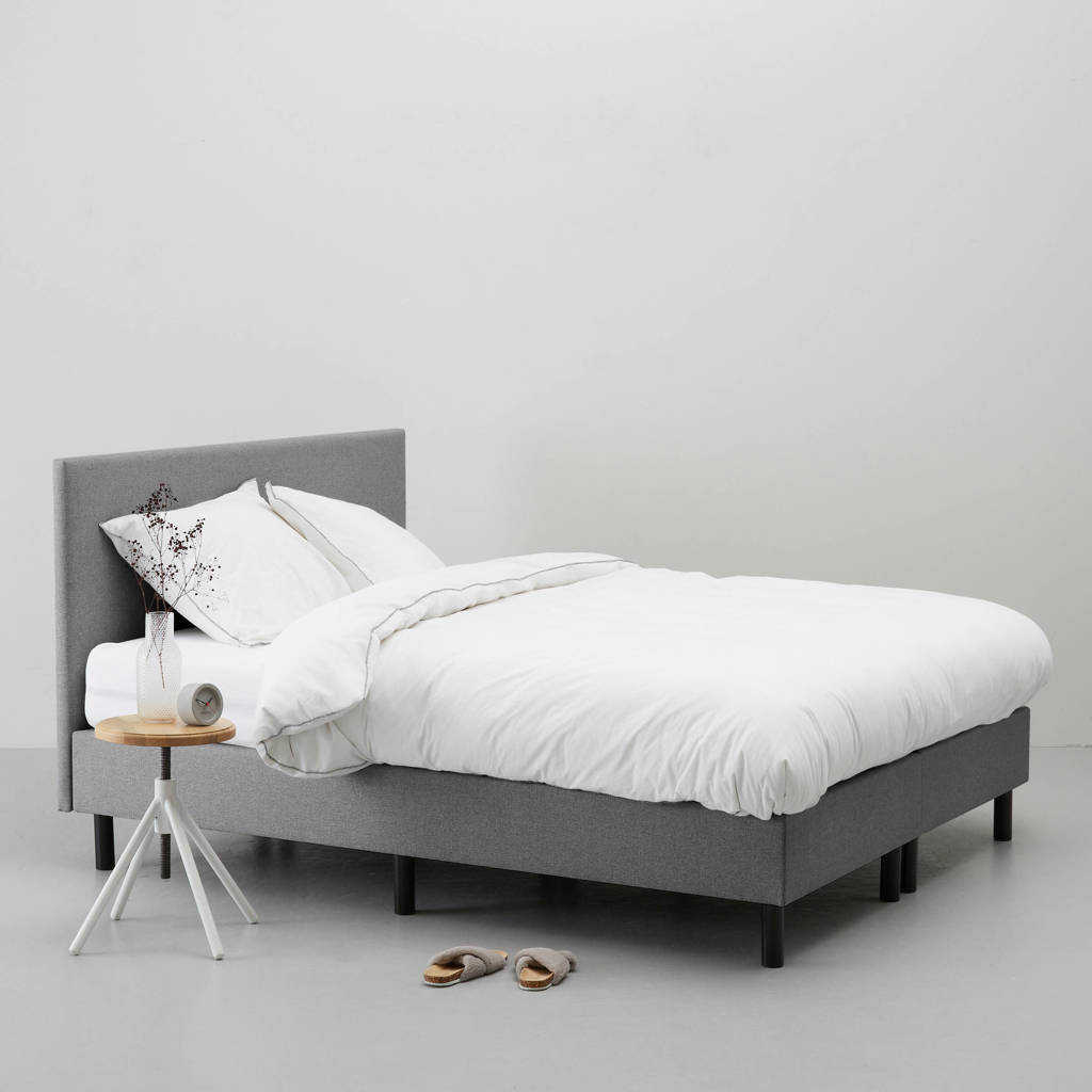 whkmp's own complete boxspring Vancouver (160x200 cm), Grijs