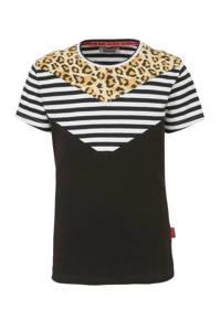 DJ Dutchjeans T-shirt zwart/wit/geel, Zwart/wit/geel
