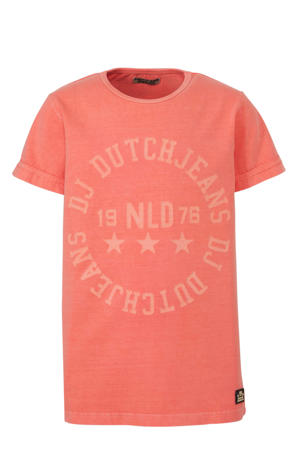 T-shirt met tekst oranje