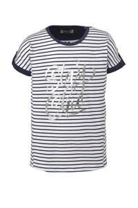 DJ Dutchjeans gestreept T-shirt wit/marine/ziver, Wit/marine/ziver