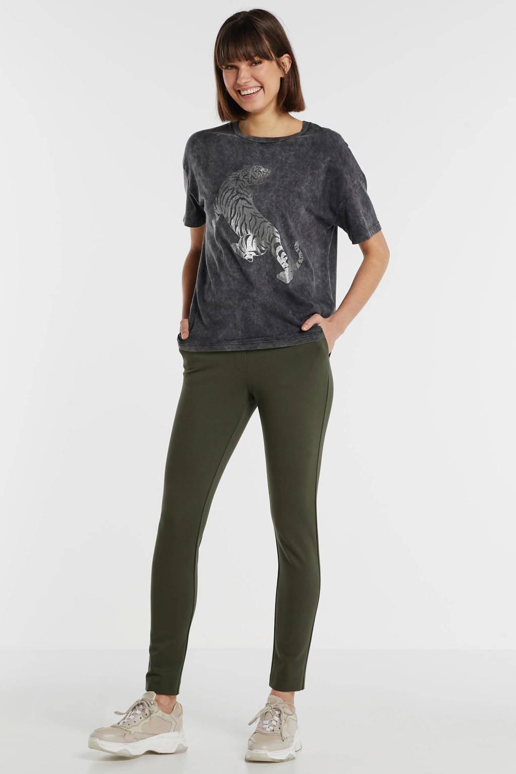 Catwalk Junkie T-shirt met printopdruk grijs, Grijs