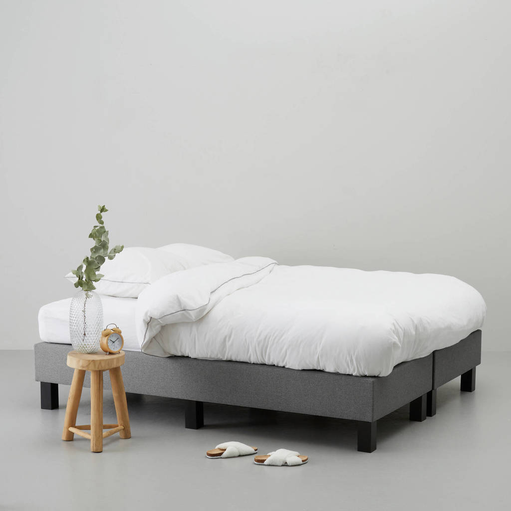 whkmp's own complete boxspring Calgary (180x210 cm), Grijs