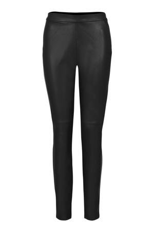 Lang imitatieleren legging zwart 36 inch