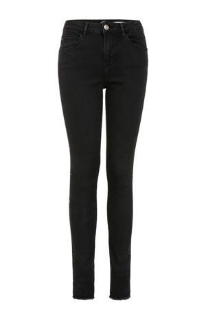 Lang high waist skinny jeans met studs grijs 36 inch
