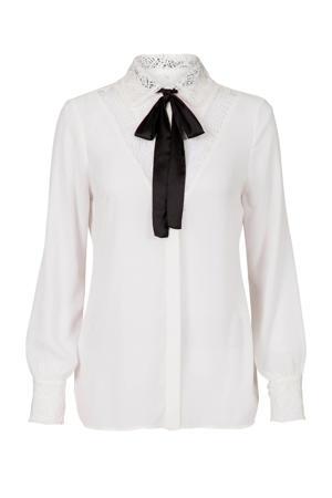 blouse met kant ecru