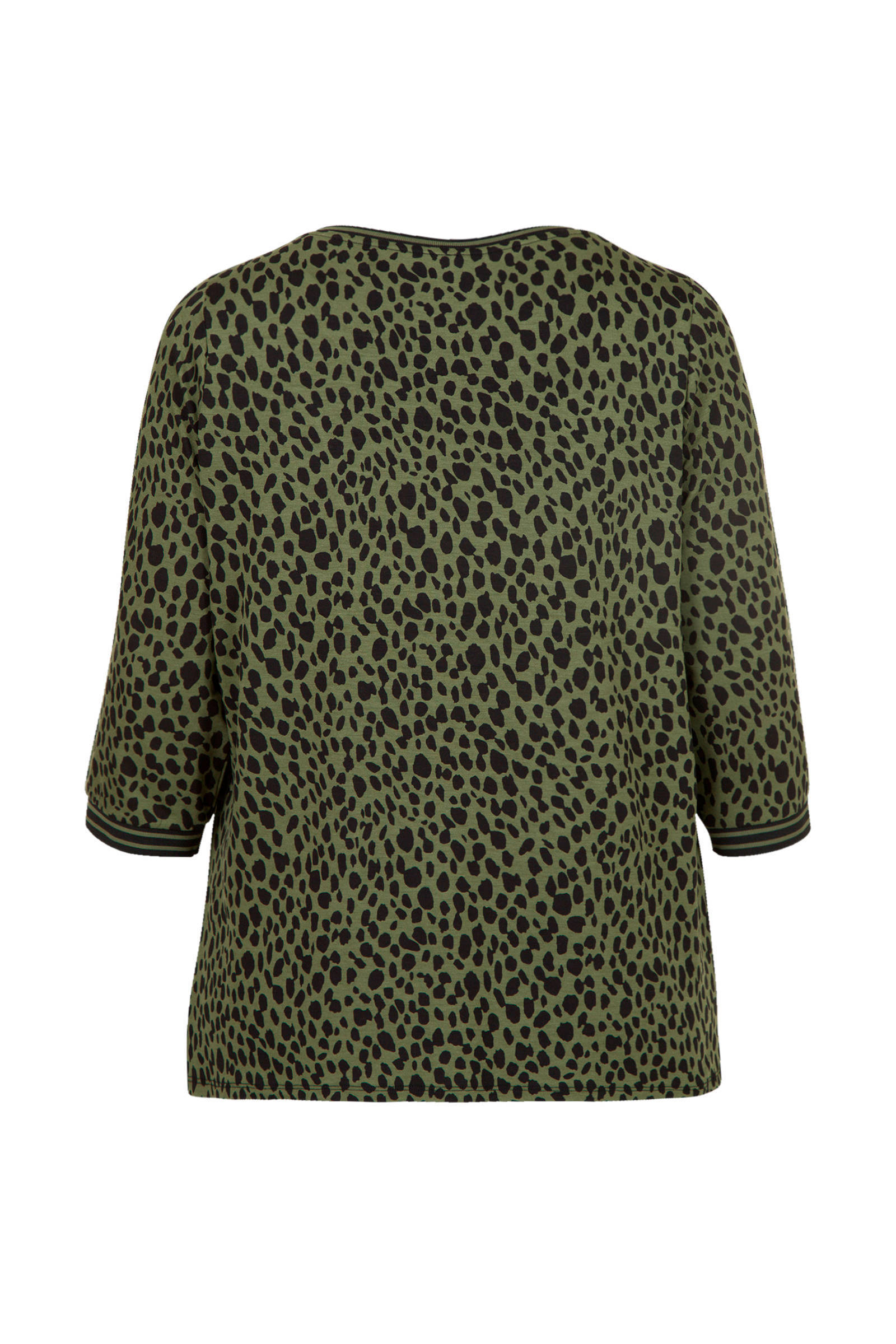 Miss Etam Plus Top Met All Over Print Groen/zwart OoIle2ve