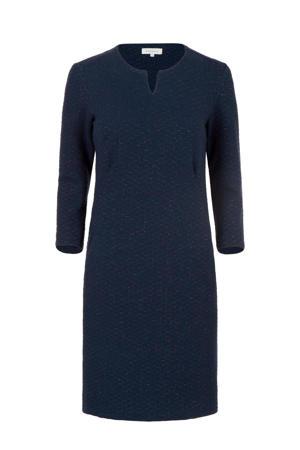 jersey jurk met all over print en glitters donkerblauw