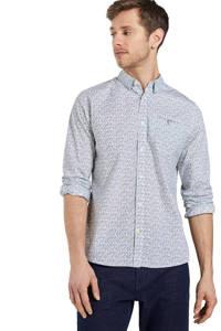 Tom Tailor slim fit overhemd met all over print white base olive yellow design, White Base Olive Yellow Design