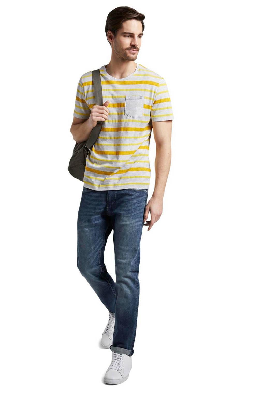 Tom Tailor gestreept T-shirt yellow printed stripe, Yellow Printed Stripe