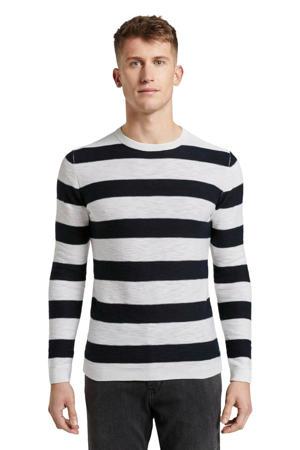 gestreepte sweater navy regular big stripe