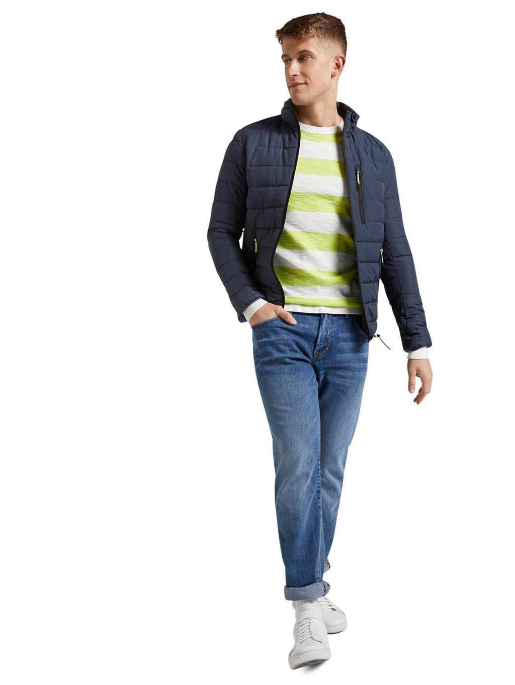 Tom Tailor gestreepte sweater neon green, Neon Green