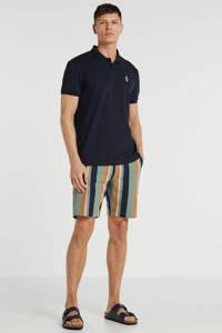 Tom Tailor regular fit polo marine/geel, Marine/geel