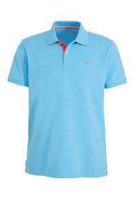 Tom Tailor regular fit polo met logo lichtblauw, Lichtblauw