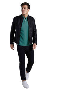 Tom Tailor regular fit polo met all over print ever green white melange, Ever Green White Melange