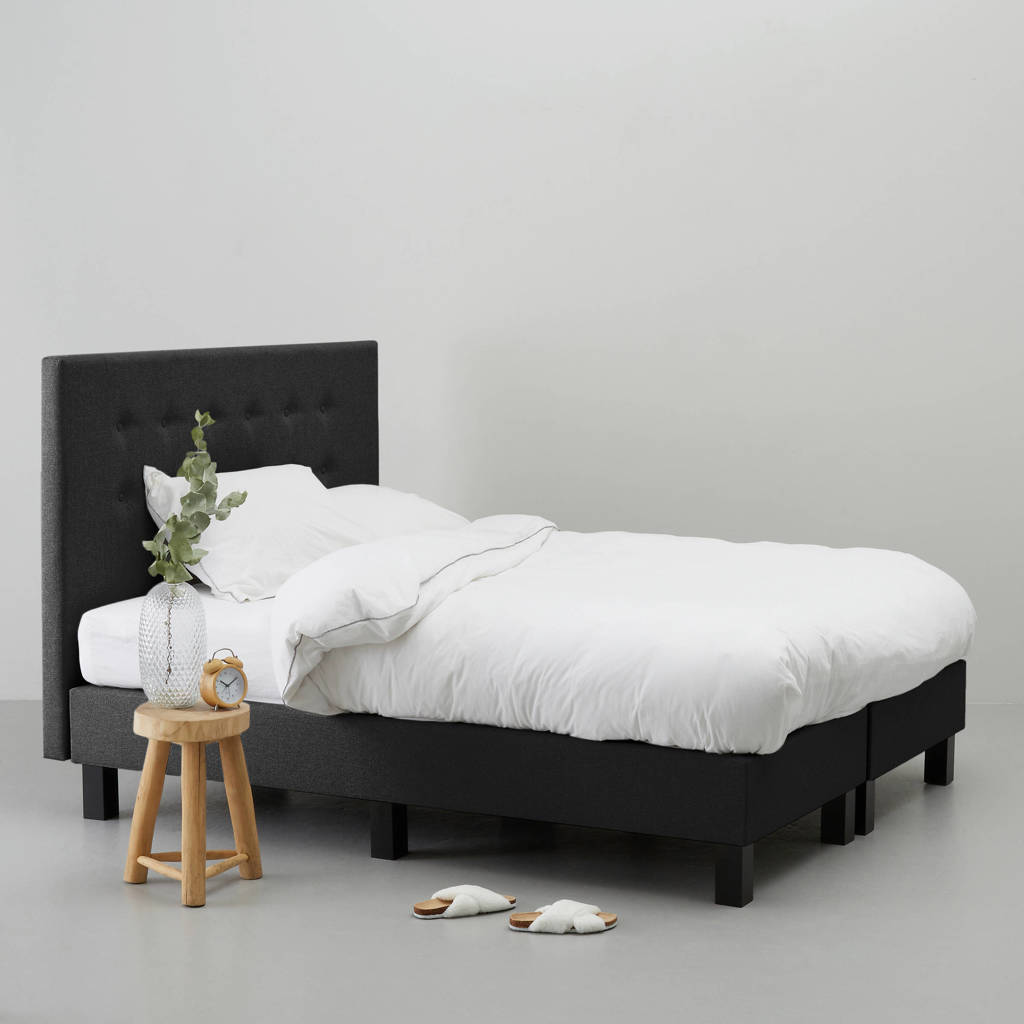 whkmp's own complete boxspring Quebec (140x200 cm), Zwart