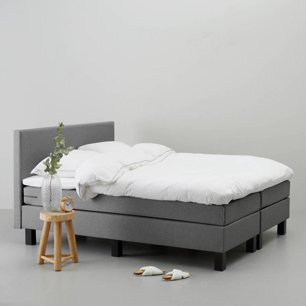 whkmp's own complete boxspring Seattle (180x200 cm), Grijs