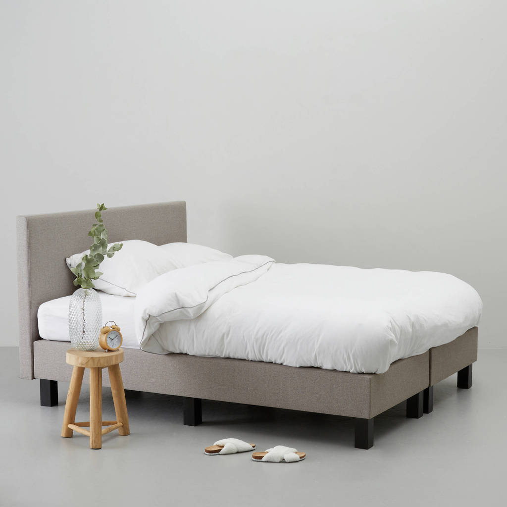 whkmp's own complete boxspring Vernon (140x200 cm), Taupe