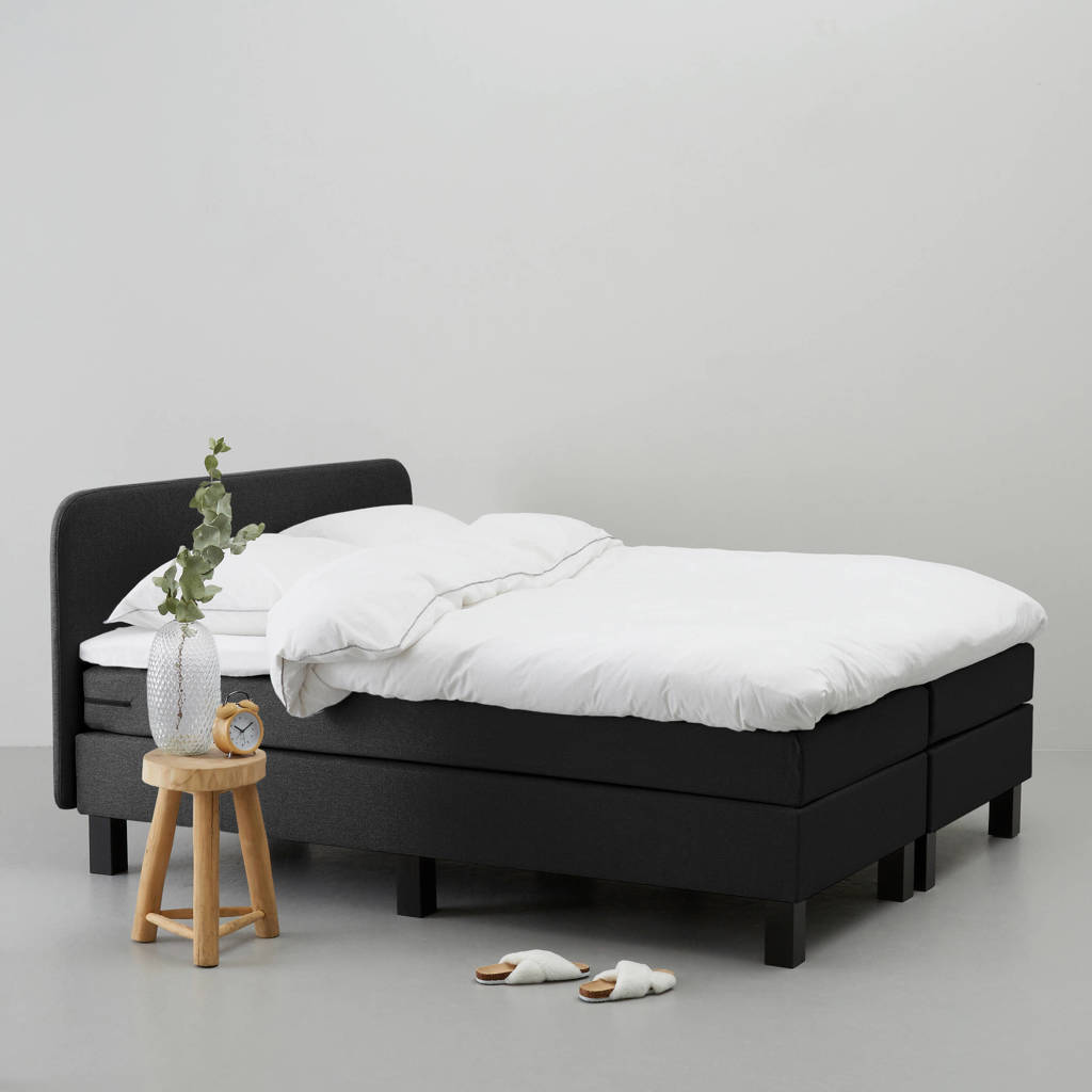 whkmp's own complete boxspring Lewis (140x200 cm), Zwart