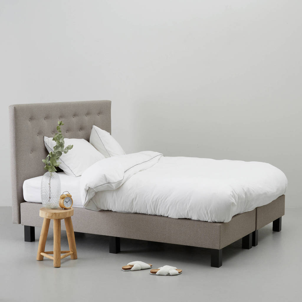 Wehkamp Home complete boxspring Victoria (140x200 cm), Taupe