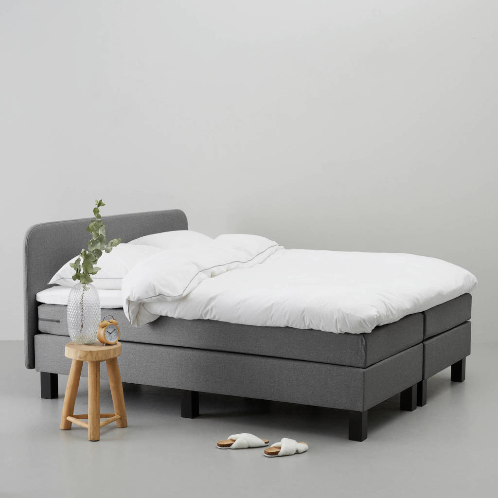 whkmp's own complete boxspring Lewis (180x210 cm), Grijs
