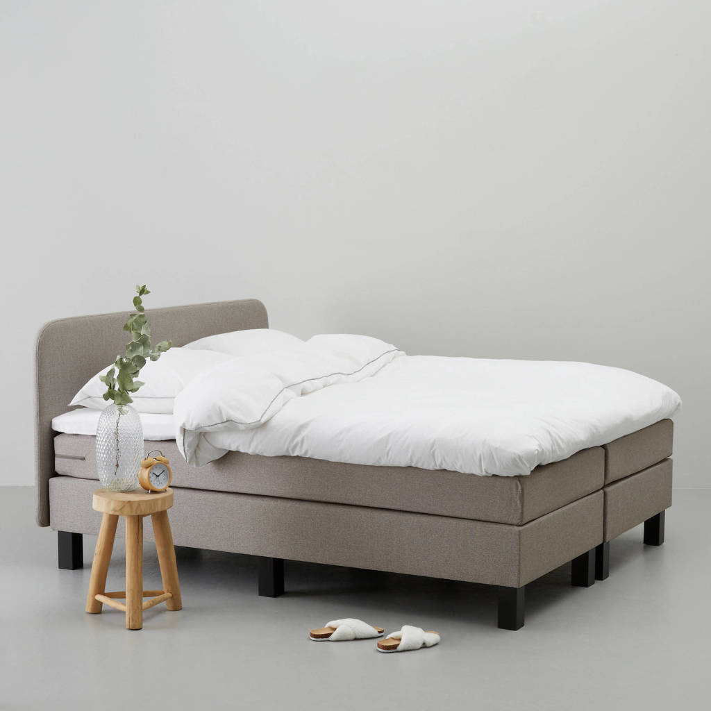 whkmp's own complete boxspring Lewis (140x200 cm), Taupe