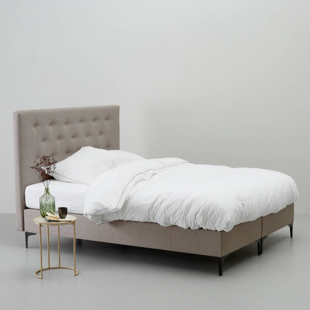 whkmp's own complete boxspring Hamilton (160x210 cm), Taupe
