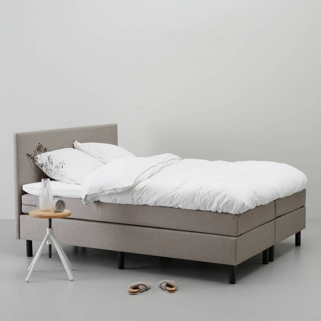 whkmp's own complete boxspring Davis (160x210 cm), Taupe