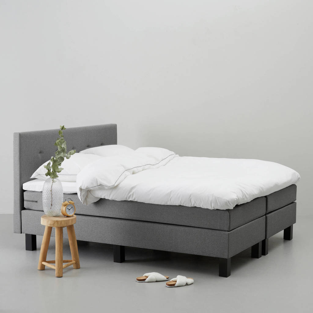 whkmp's own complete boxspring Jackson (180x200 cm), Grijs