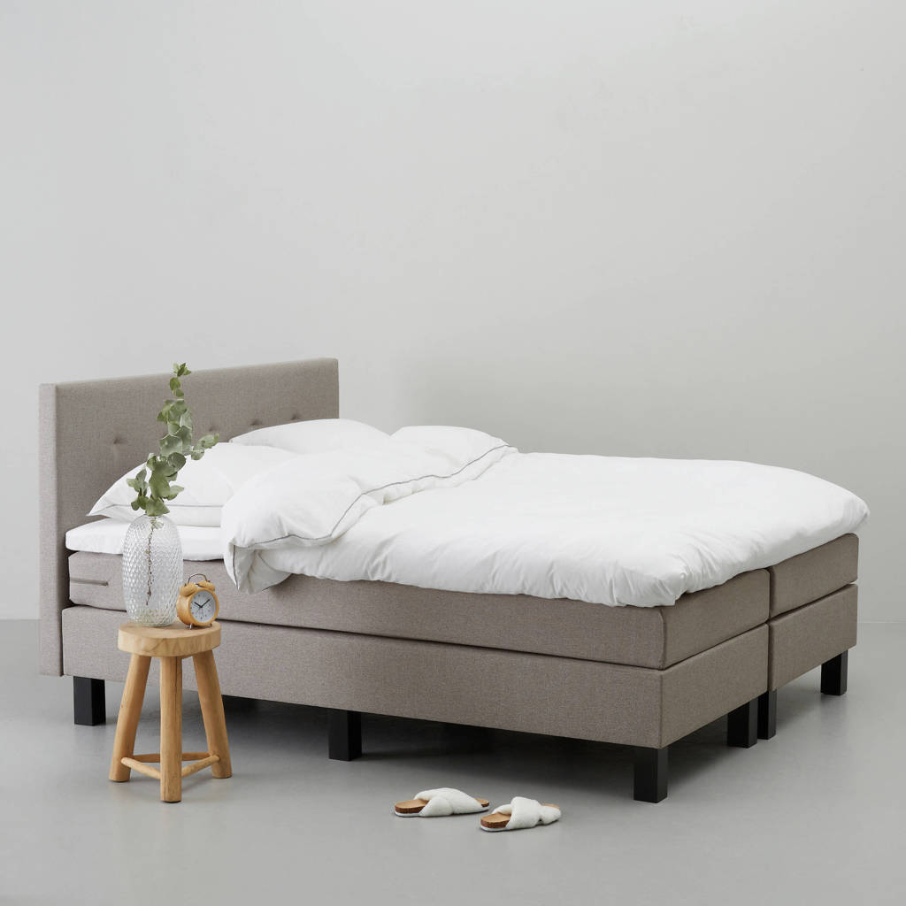 whkmp's own complete boxspring Jackson (180x200 cm), Taupe