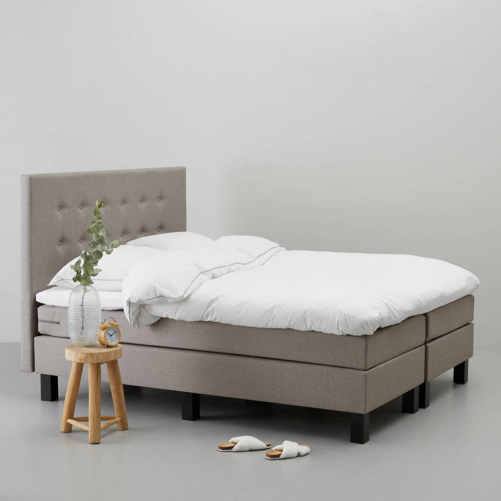 wehkamp home complete boxspring Durham (140x200 cm), Taupe