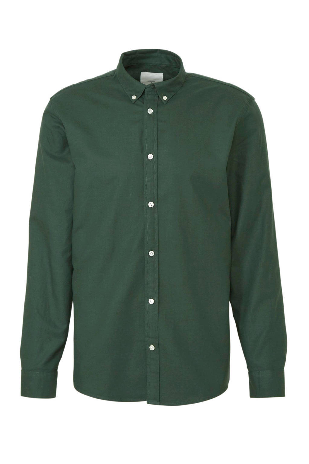 Minimum slim fit overhemd groen, Groen