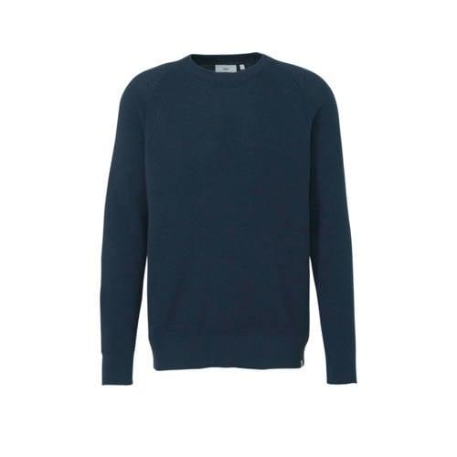 Minimum fijngebreide trui donkerblauw