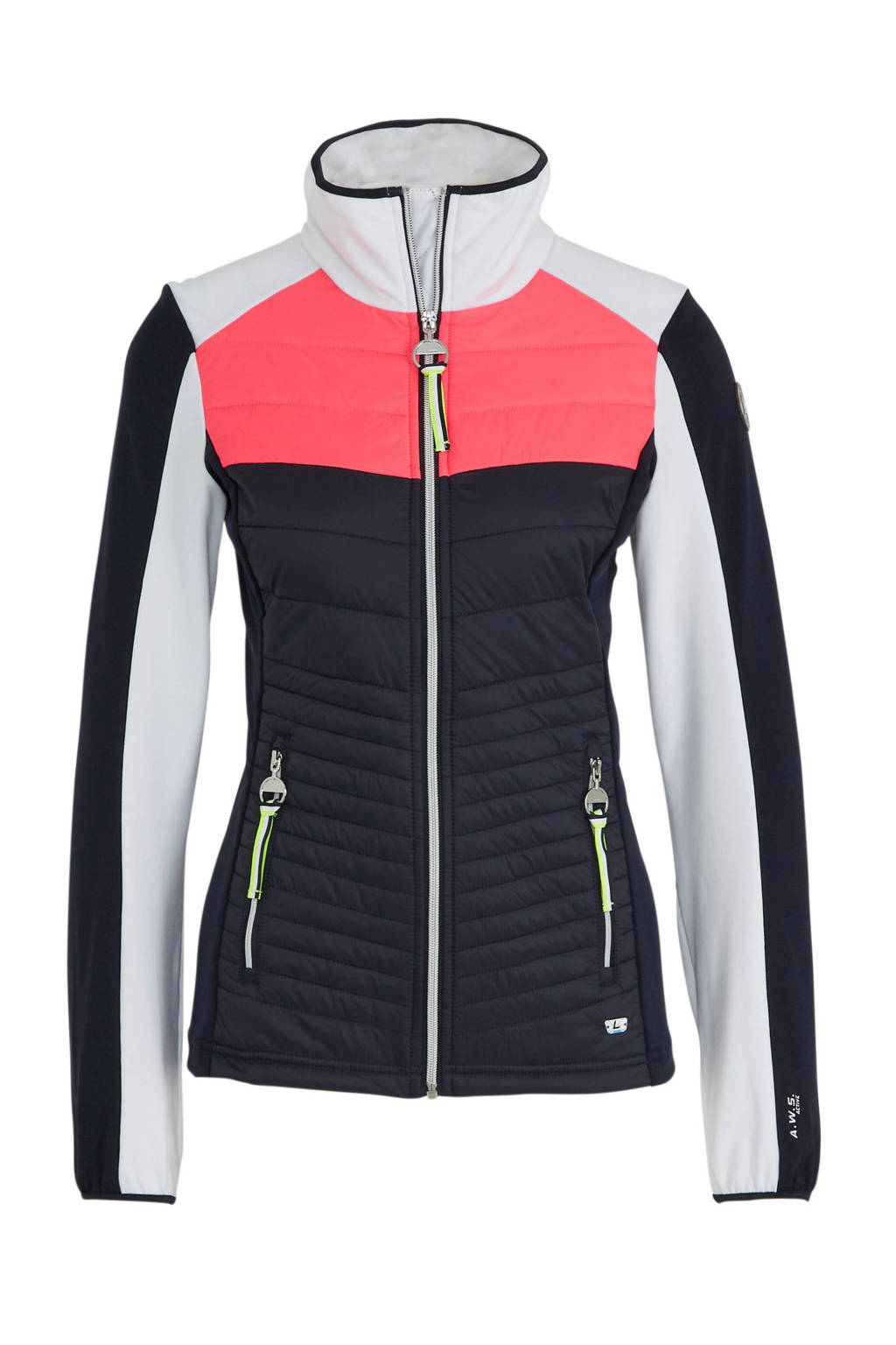 Luhta outdoor jack Annila donkerblauw/roze/wit, Donkerblauw/roze/wit