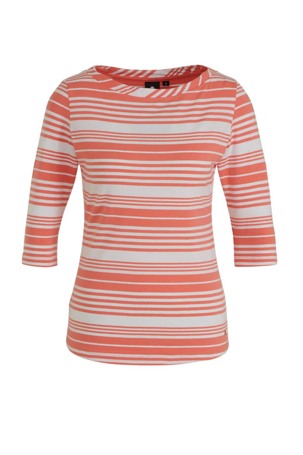 Luhta Askola T-shirt roze/wit, Roze/wit