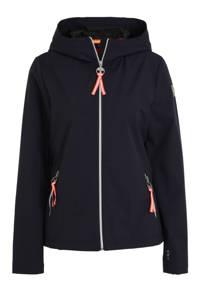 Luhta softshell outdoor jas donkerblauw, Donkerblauw/wit