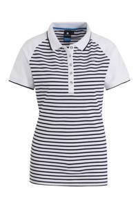 Luhta Arantila outdoor polo wit/donkerblauw, Wit/donkerblauw