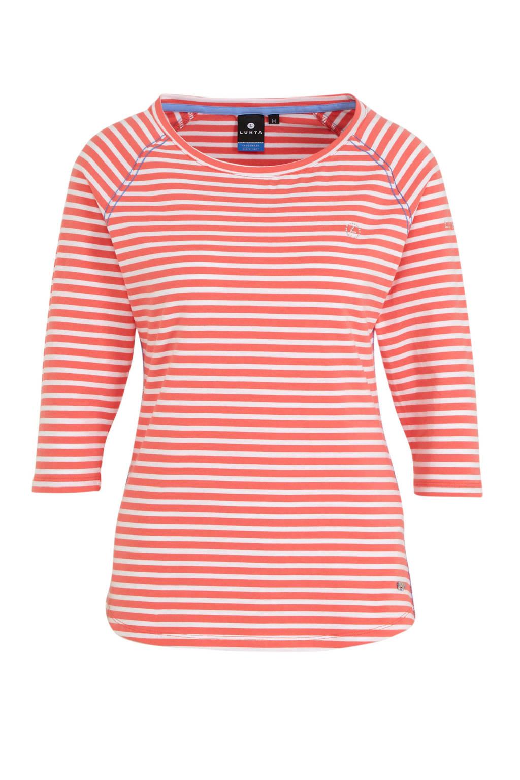 Luhta Arima outdoor T-shirt roze, Roze/wit