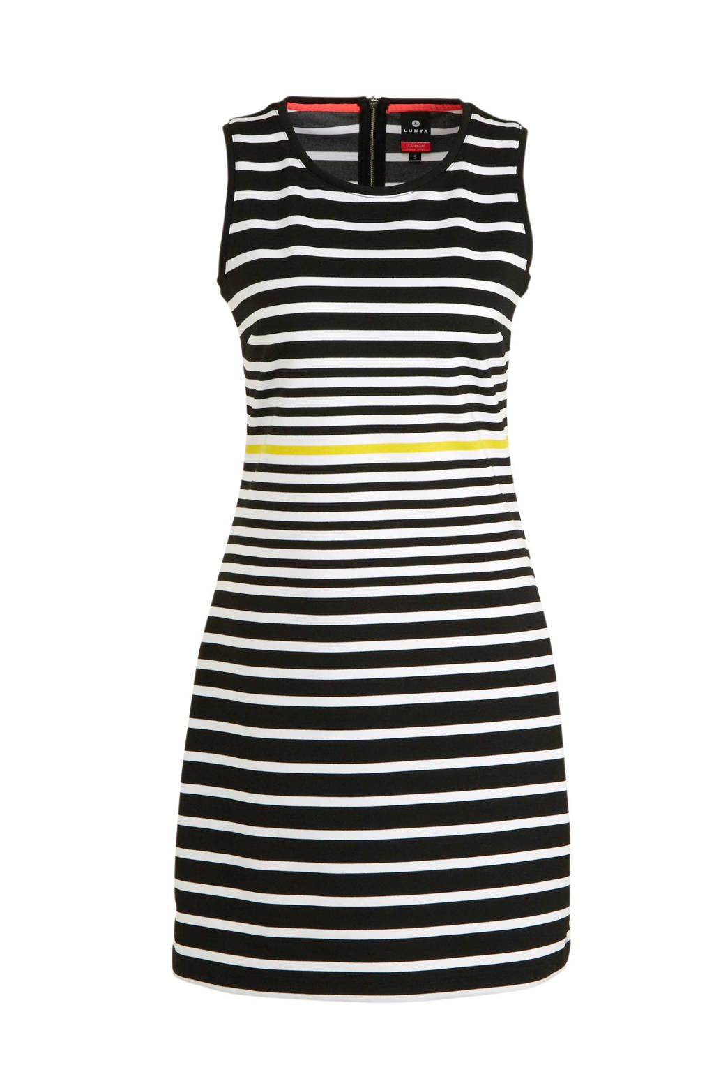Luhta jurk Aulanko zwart/wit, Zwart/wit