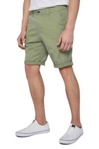 Tom Tailor slim fit bermuda groen, Groen