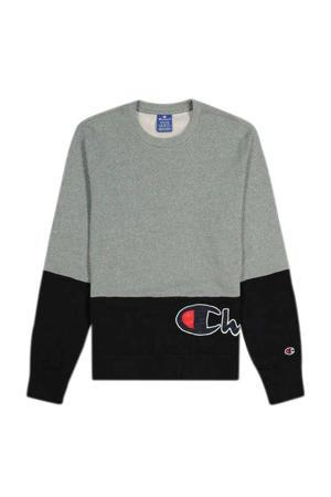 sweater grijs melange/zwart