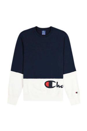 sweater donkerblauw/wit