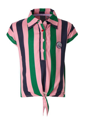 gestreepte top Amine roze/groen/donkerblauw