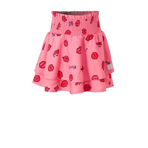 Quapi rok Ana met all over print roze/rood