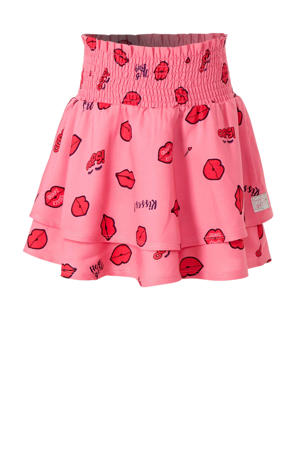 rok Ana met all over print roze/rood