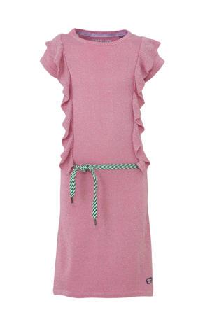 gebreide jurk Aidee met glitters roze