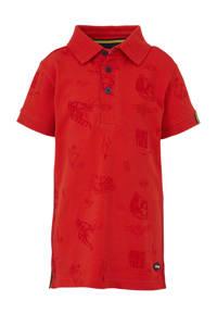 Quapi polo Amaro met all over print rood, Rood